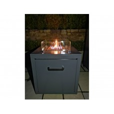 CUBE REAL FLAME GAS FIRE PIT PATIO HEATER