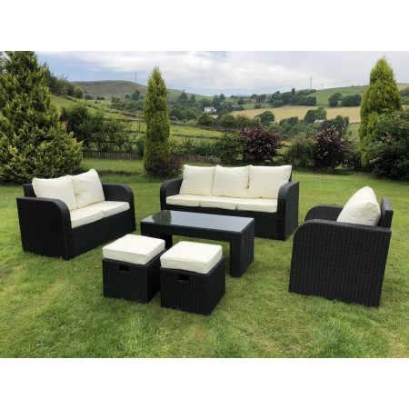 All Weather Rattan Make Your Own Sofa Set in Grey, Brown or Black