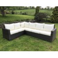 Rattan Outdoor Corner Sofa Set Garden Furniture in Brown