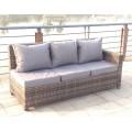 Rattan Outdoor Corner Sofa Dining Set Garden Furniture in Grey