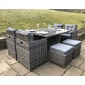 Luxe Cube - Rattan 8 Seat Dining Set