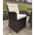 Rattan Outdoor 2 Seat Round Garden Bistro Set in Brown