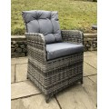 Rattan Outdoor 2 Seat Round Garden Bistro Set in Grey
