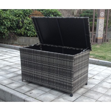 Rattan Storage Box in Black, Brown or Grey