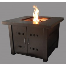 Square Freestanding Fire Pit in golden brown