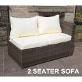 Rattan Outdoor All Weather Custom Modular Sofa Set in Brown