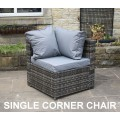 Rattan Outdoor All Weather Custom Modular Sofa Set in Grey