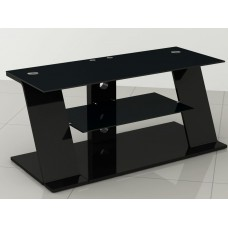 Glossy Black or White MDF and Glass TV Stand up to 52""