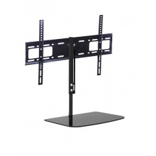 Universal Flat TV Wall Bracket with Floating Shelf for screen sizes 32 to 55 inches
