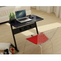 Home Office Black Computer Desk with Built-In Bluetooth Speakers