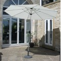 Parasol 3m Cream with Aluminium Frame With or Without Base