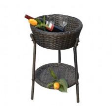 Rattan Outdoor Basket Garden Furniture Accessories in Black or Brown