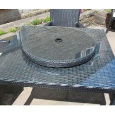 Rattan Lazy Susan Outdoor Garden Furniture in Black, Brown or Grey