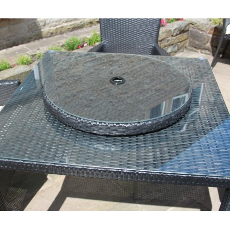 Rattan Lazy Susan Outdoor Garden Furniture in Black, Brown or Grey
