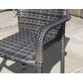 Set of 2 Rattan Stackable Contract Commercial Garden Furniture Dining Chairs