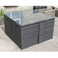 All Weather Rattan Garden Furniture Deluxe 9 Cube Set in Brown