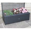 Hand Woven PE Rattan Trellis Planter Flower Pots Garden Furniture