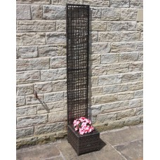 Hand Woven PE Rattan Trellis Planter Flower Pots Outdoor Garden Furniture