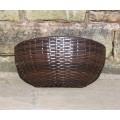 Rattan Hand Woven Oval Hanging Wall Baskets Flower Pots Planters Garden Furniture