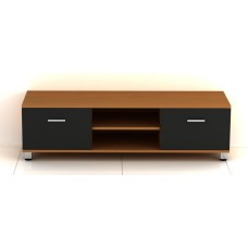 Oak with Black Gloss MDF TV Stand for TV sizes 32 to 60 inches