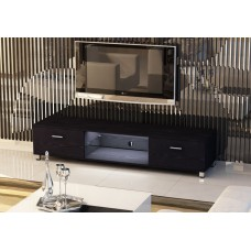 Slim Low Rise Painted Wood Effect TV Stand with LED light for TV sizes 32 to 70 inches in 3 Colours