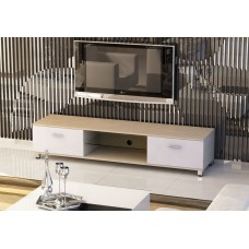 Slim Low Rise Painted Wood Effect TV Stand for TV sizes 32 to 70 inches in 3 Colours